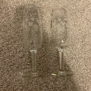 Disney champagne flutes